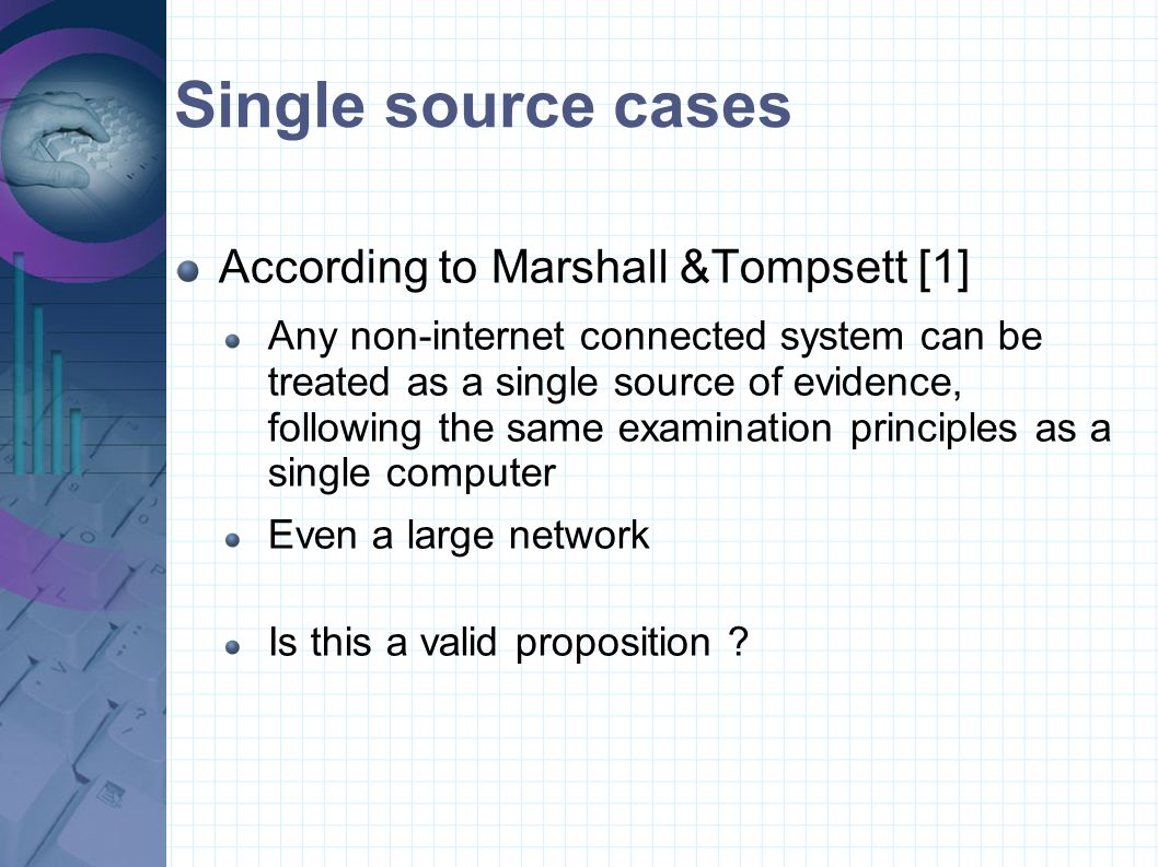 Single source cases According to Marshall &Tompsett [1]
